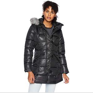 Pink Platinum Girls Winter Jacket Black Size Small
